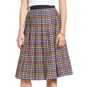Nordstrom 1901 Cotton Lined Pleated Skirt Size 14